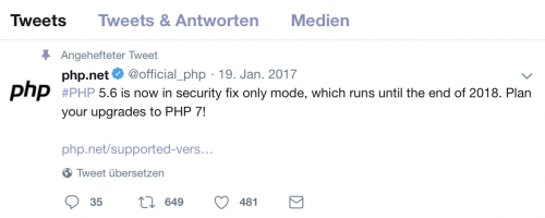 Screenshot php5 support over